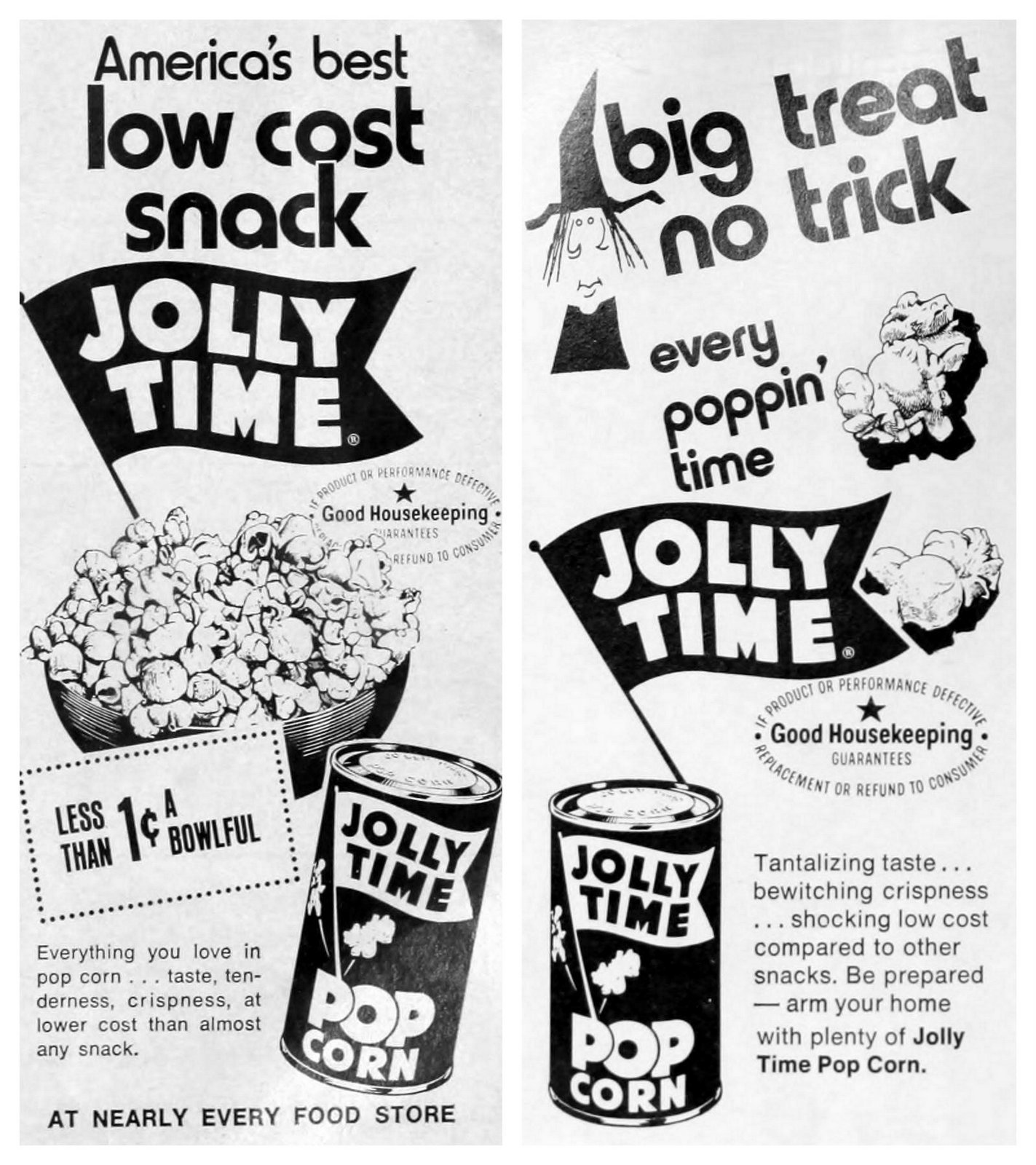 Vintage Jolly Time popcorn ads (early 1970s)