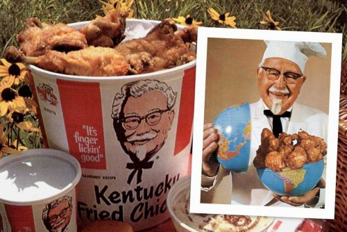 Vintage KFC Colonel Sanders - Kentucky Fried Chicken fast food chain history