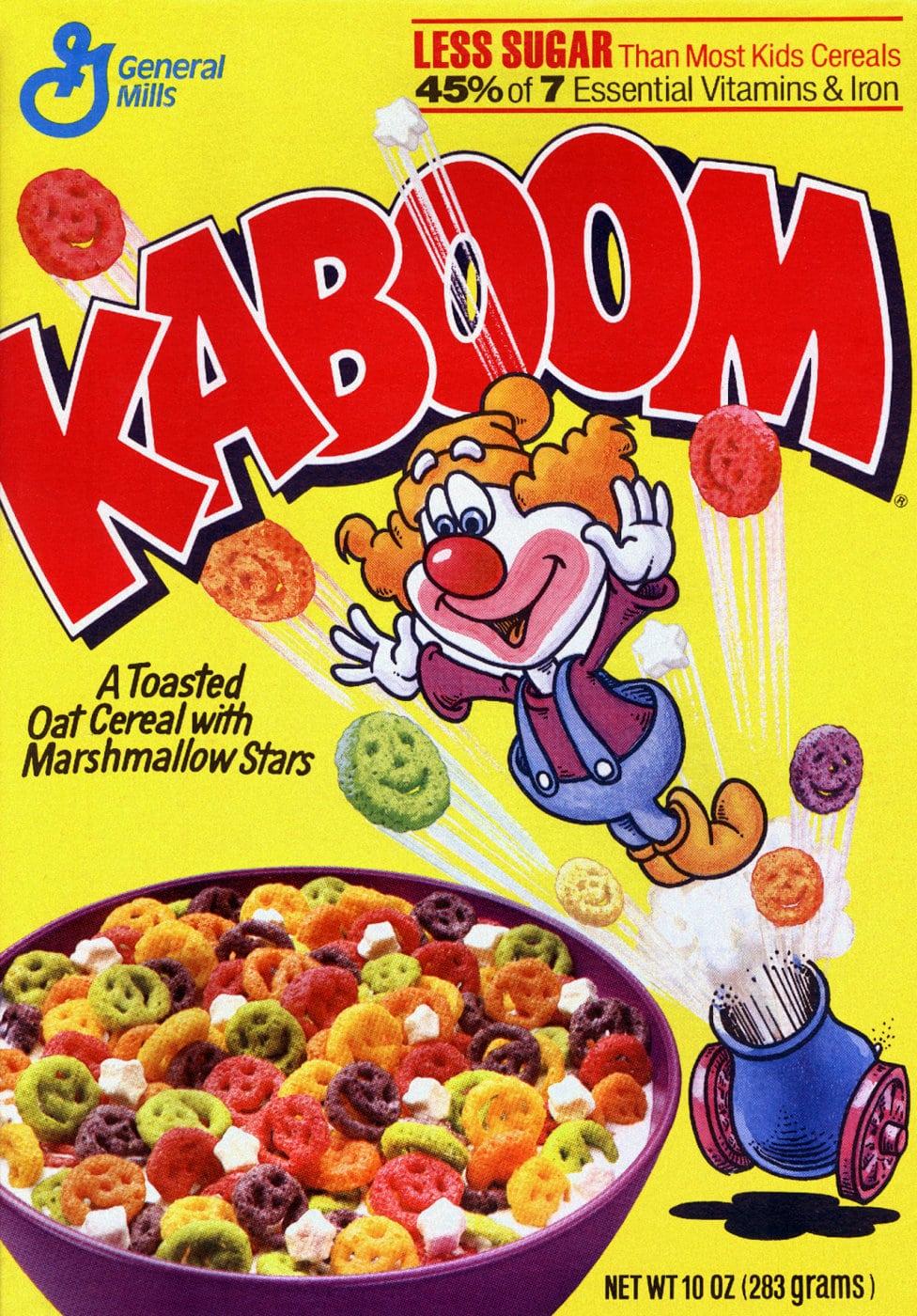 Vintage Kaboom cereal from General Mills