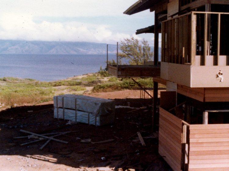 Vintage Kapalua condo construction in 1977