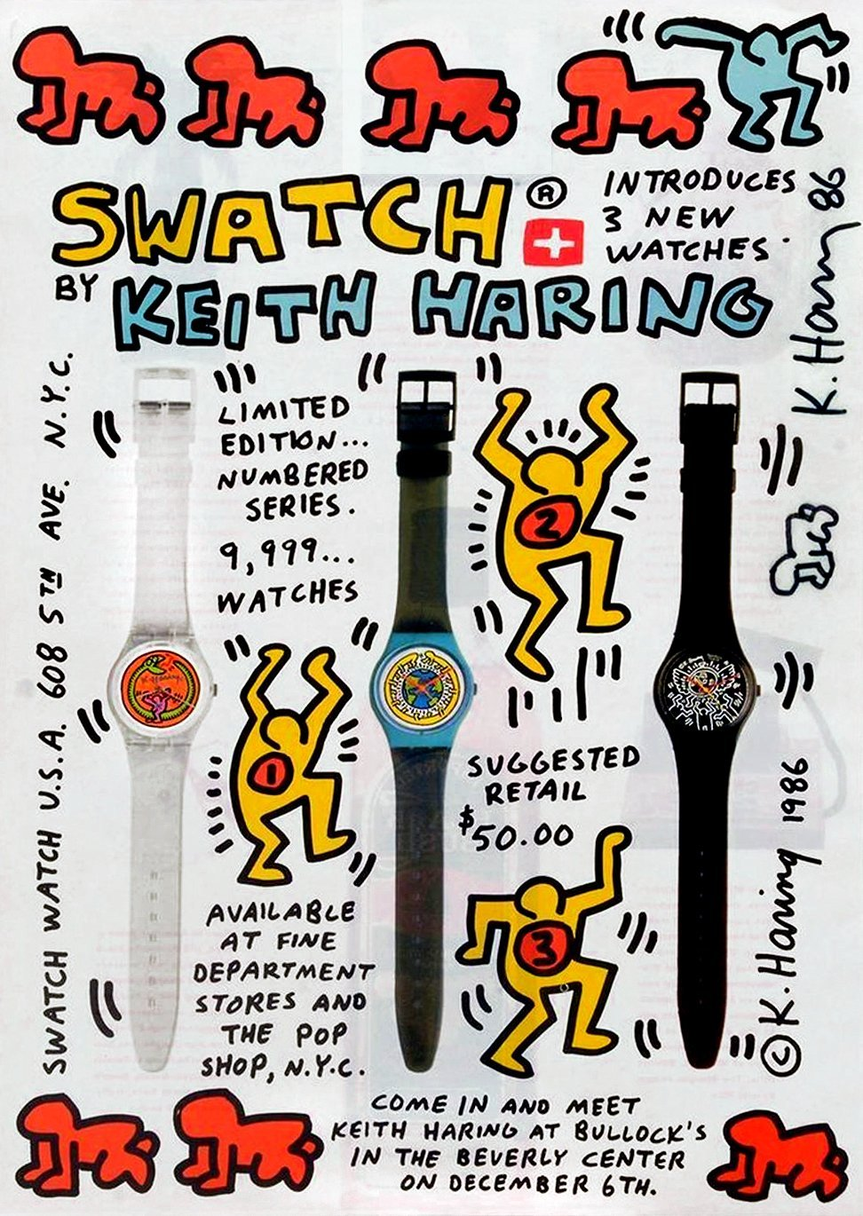 Vintage Keith Haring for Swatch 1986