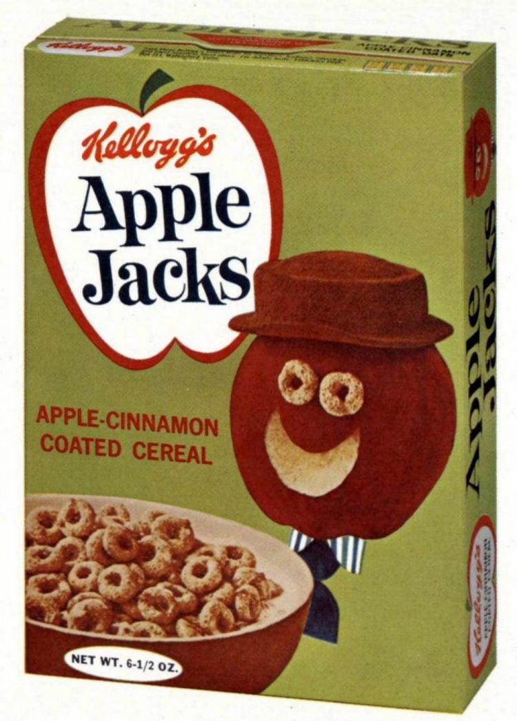Vintage Kellogg's Apple Jacks cereal from 1965