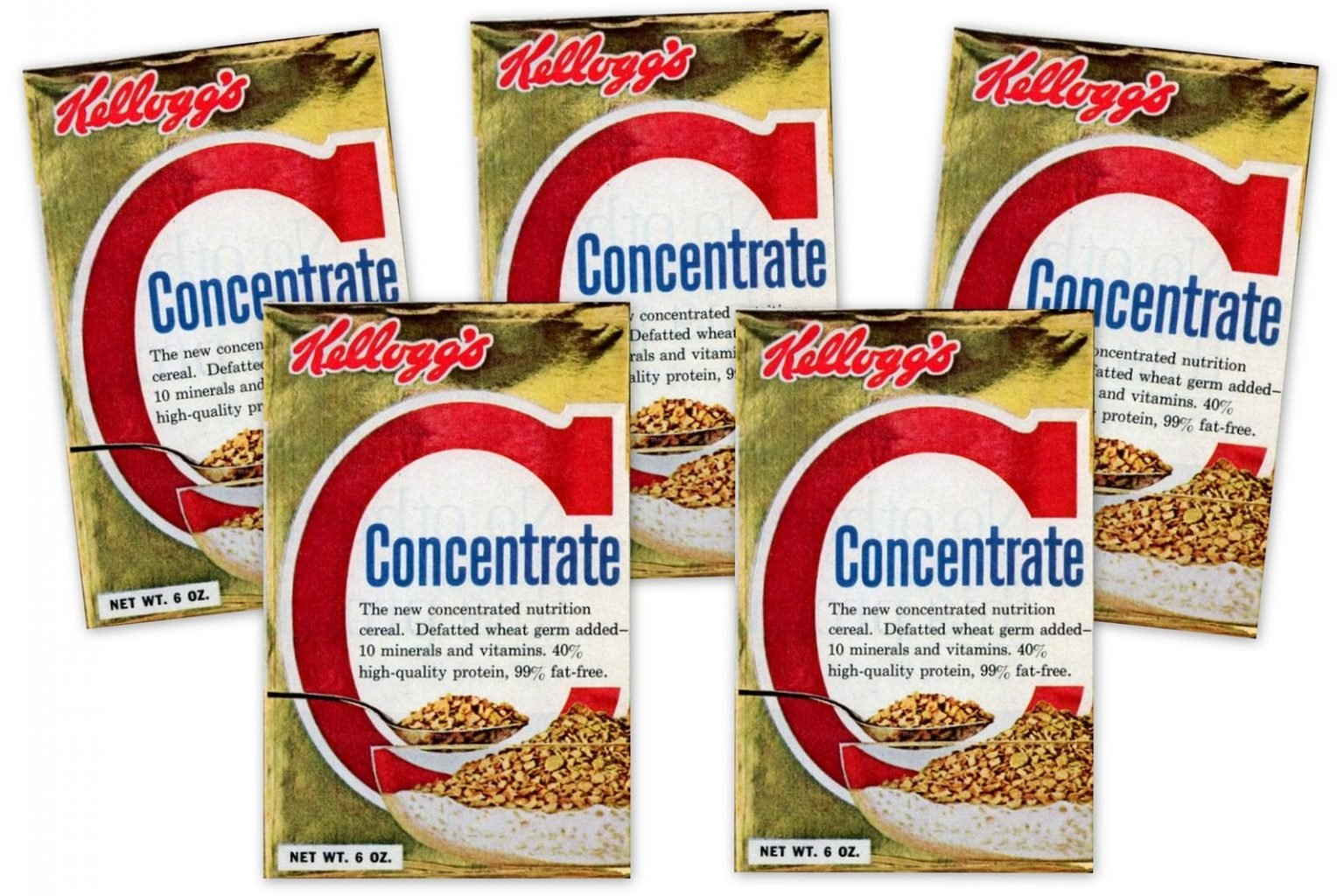 Vintage Kellogg's Concentrate cereal