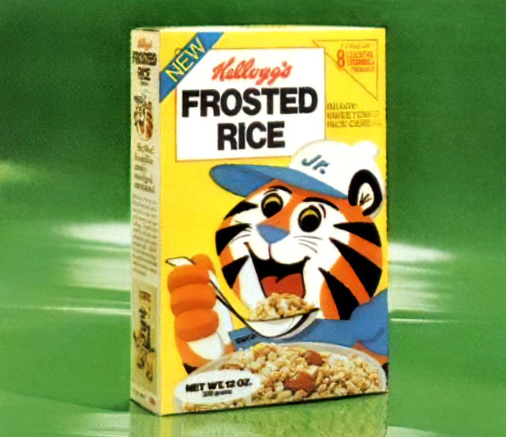 Vintage Kellogg's Frosted Rice cereal (1975)