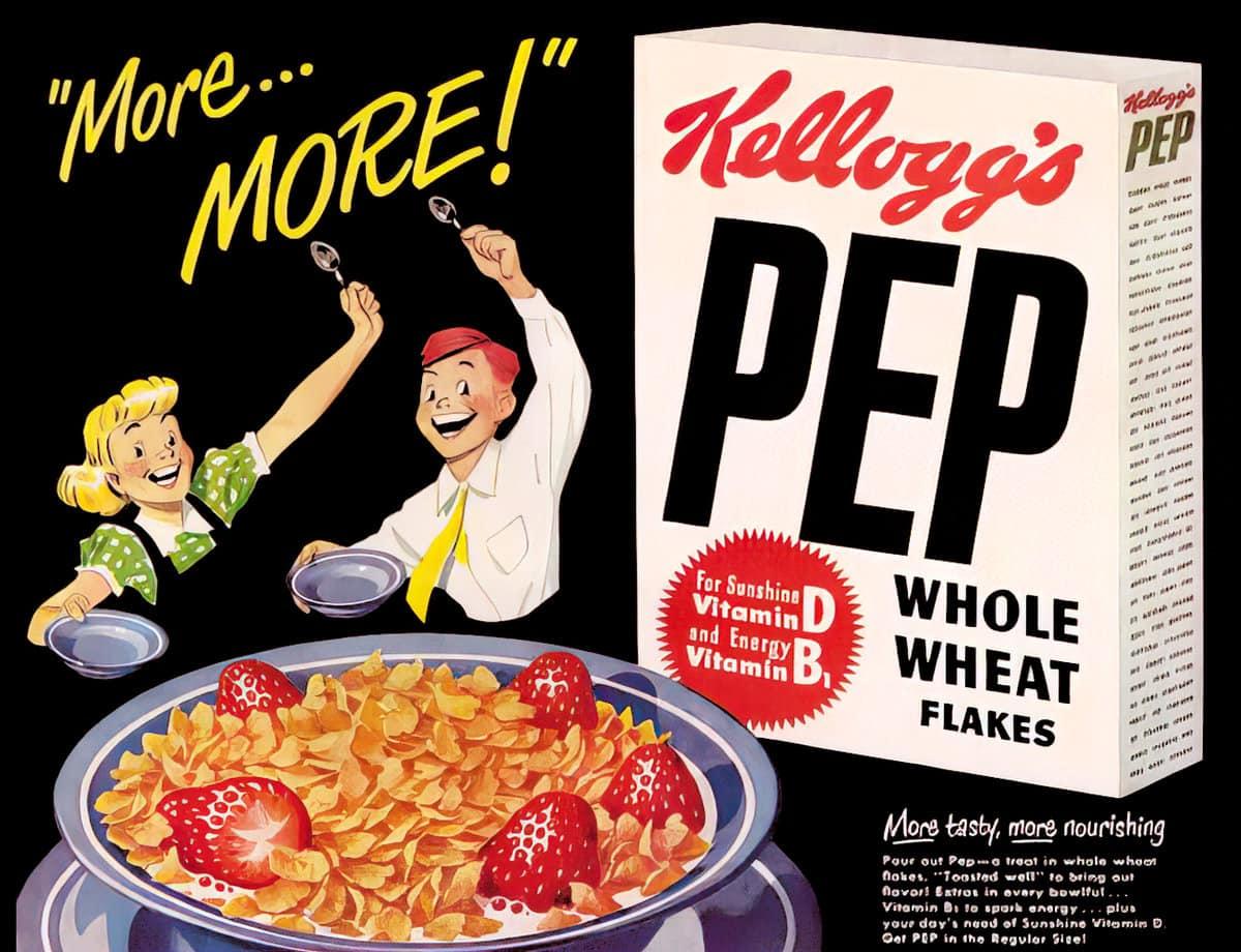 Vintage Kellogg's Pep cereal (1950s)
