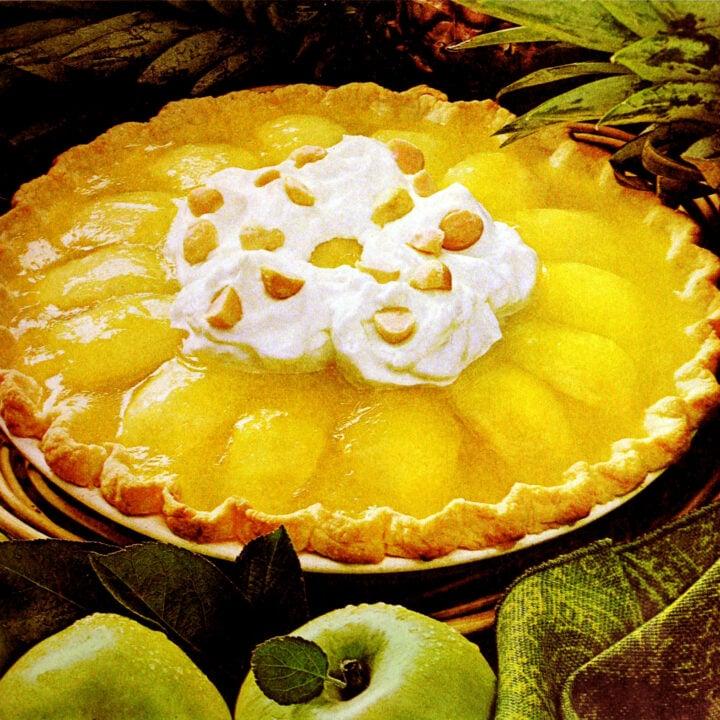 Vintage King Kamehameha pie recipe from the 1970s