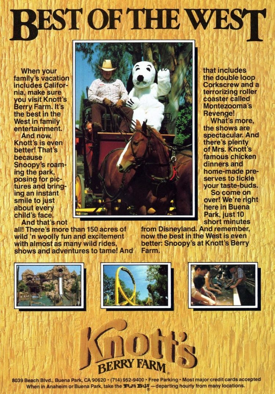 Vintage Knott's Berry Farm (1983)