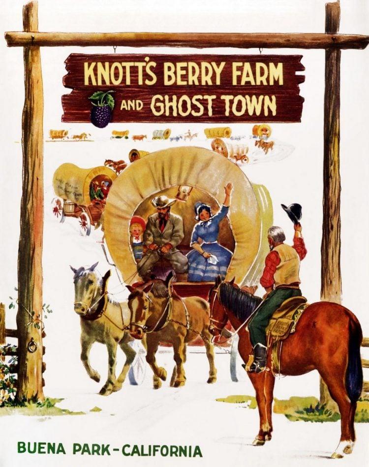 Vintage Knott's Berry Farm brochure cover