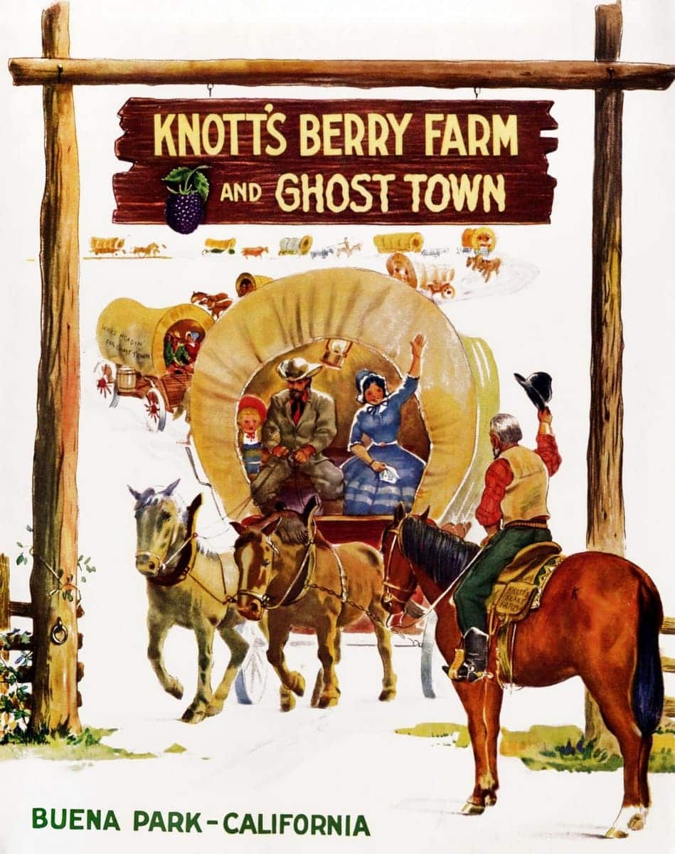 Vintage Knott's Berry Farm brochure cover