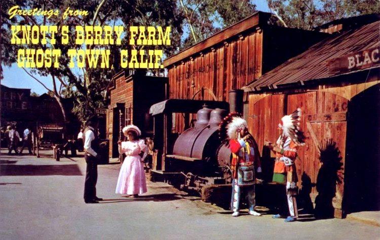 Vintage Knott's Berry Farm ghost town postcard