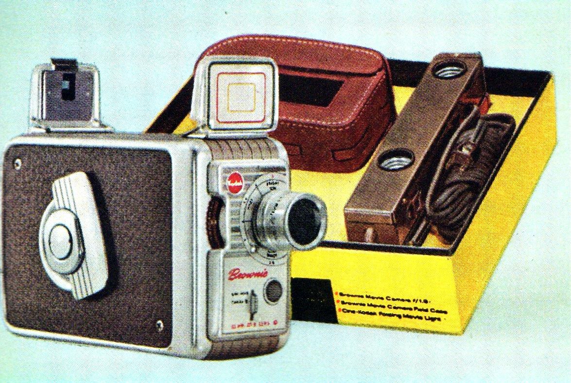 Vintage Kodak Brownie movie camera