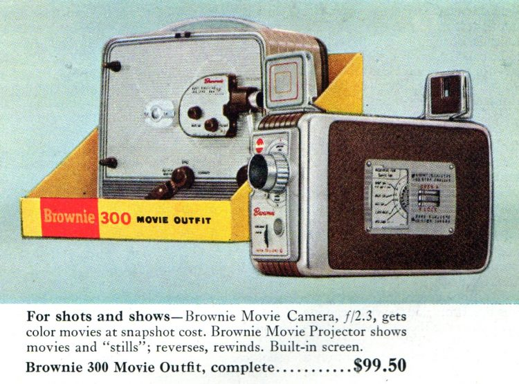 Vintage Kodak Brownie movie cameras from 1956 (1)