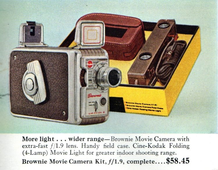 Vintage Kodak Brownie movie cameras from 1956 (2)