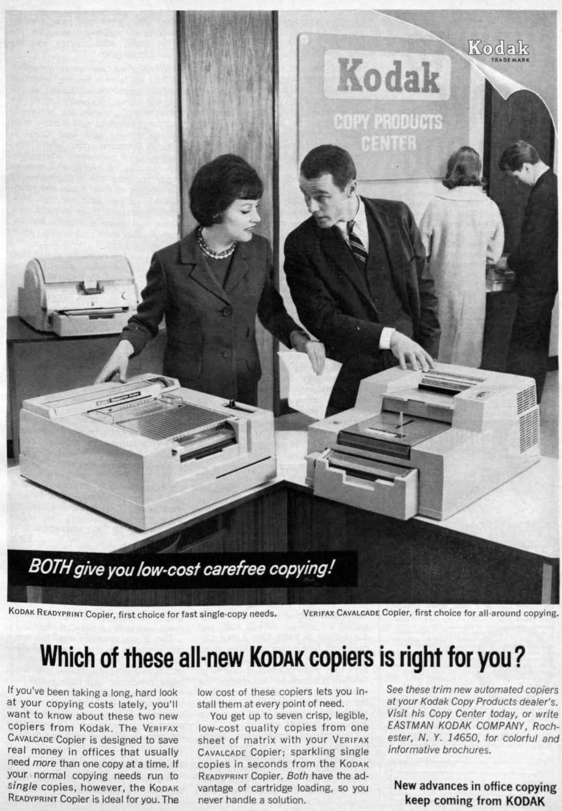 Vintage Kodak copiers (1964)
