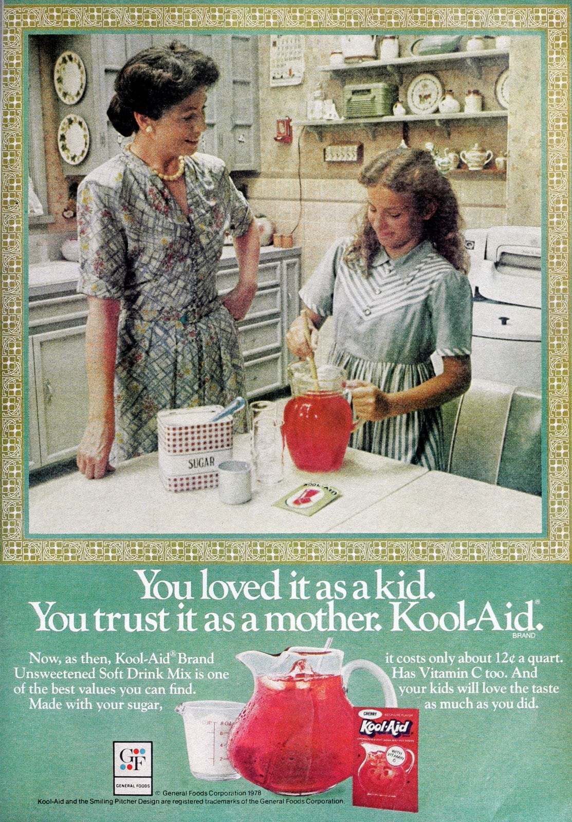 Vintage Kool-Aid ad - Trust it as a mother (1978)