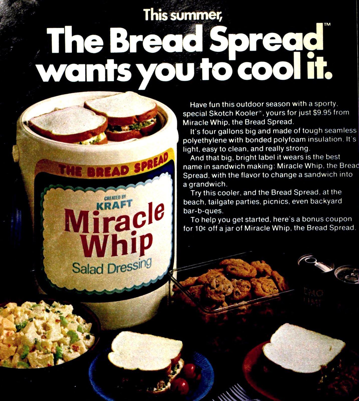 Vintage Kraft Miracle Whip Skotch Kooler (1978)