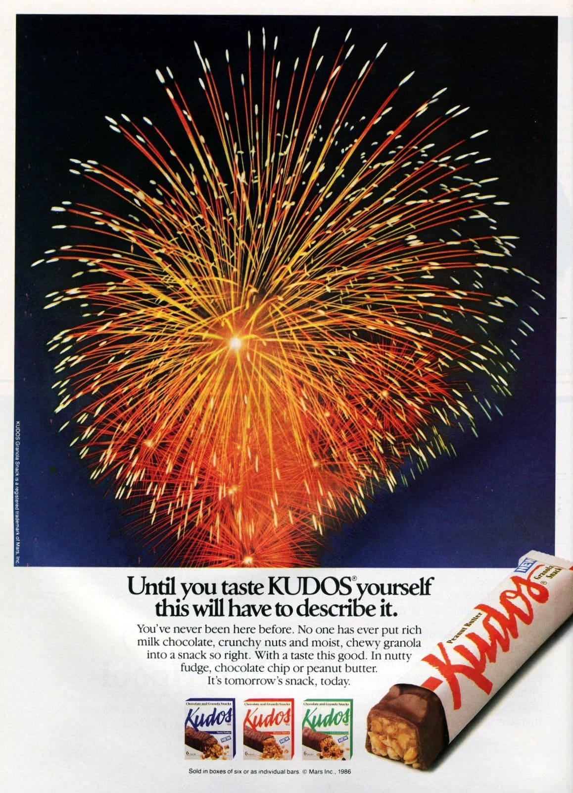 Vintage Kudos granola bars (Feb 1987)