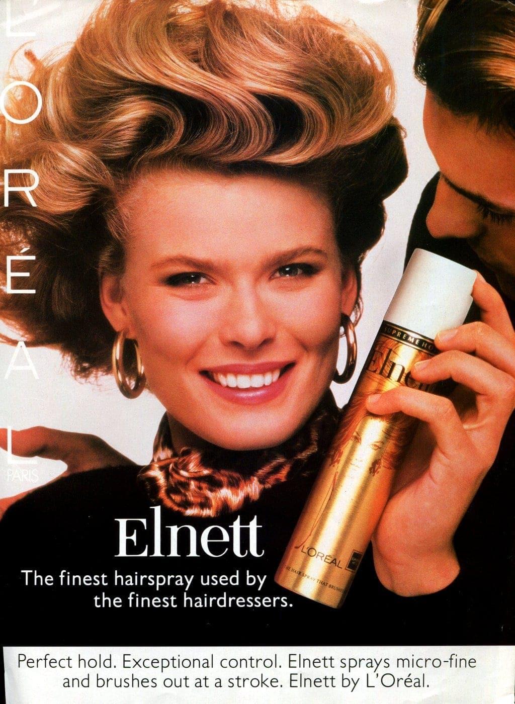 Vintage LOreal Elnett hairspray