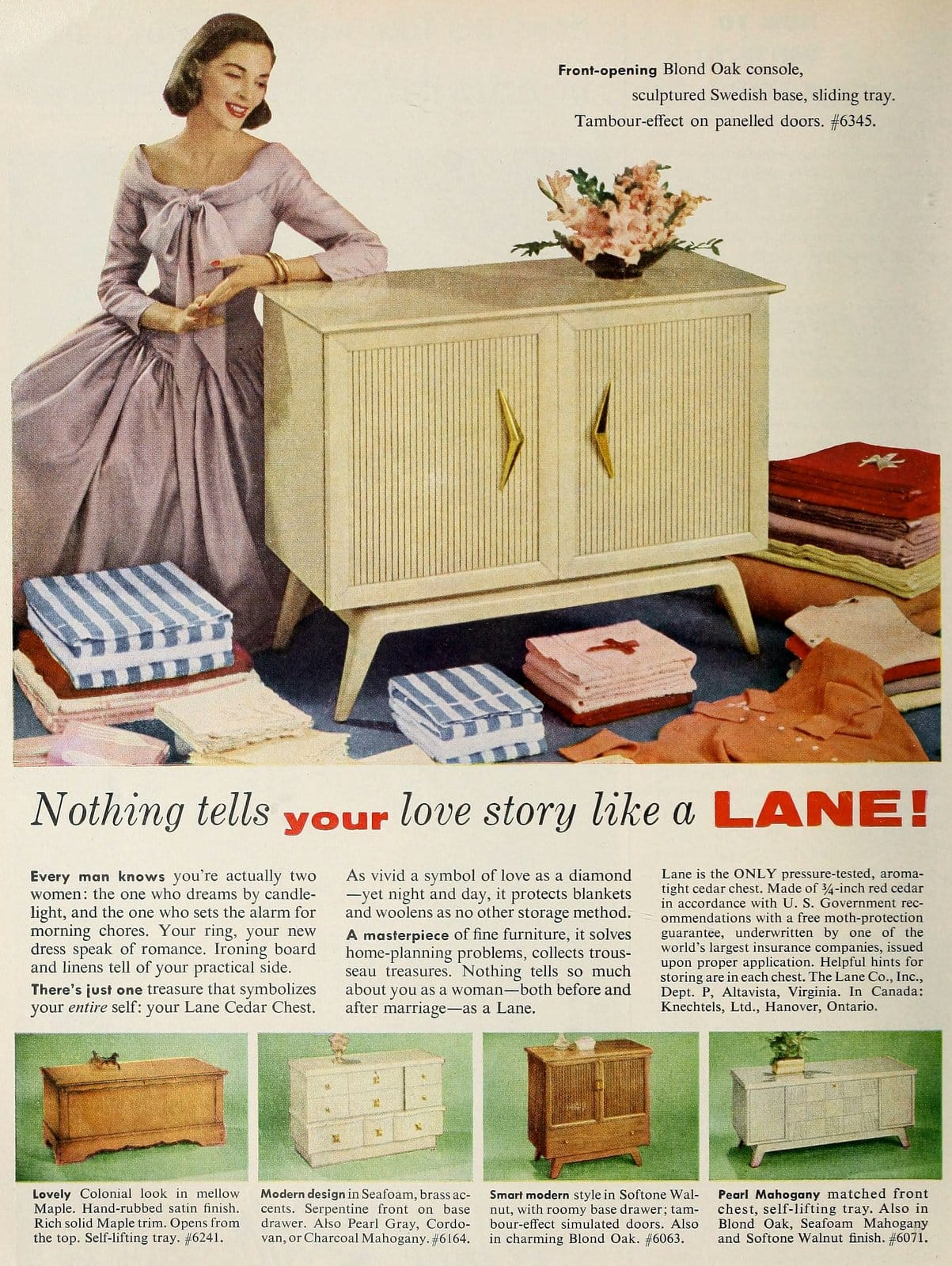 Vintage Lane hope chest from the 1950s