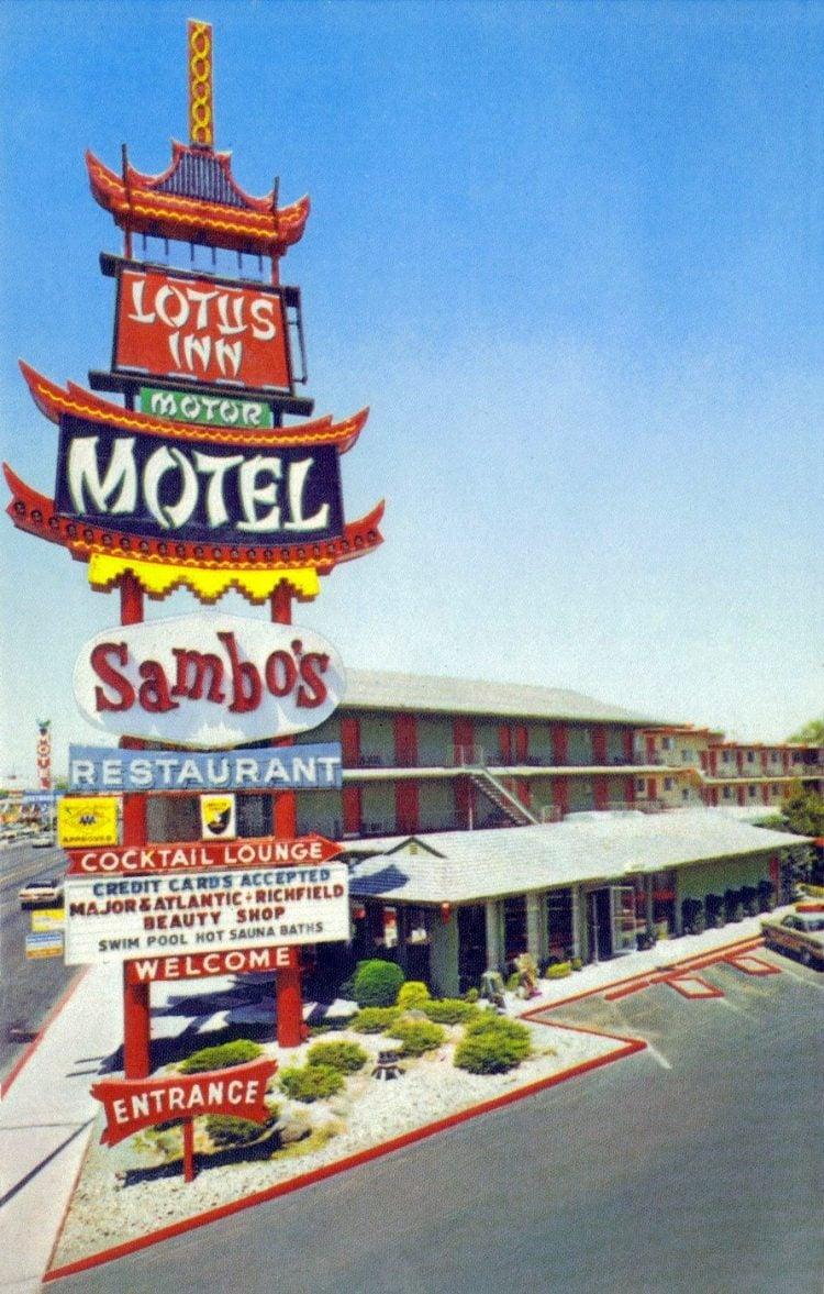 Vintage Las Vegas Lotus Inn Motor Motel and Sambo's Restaurant