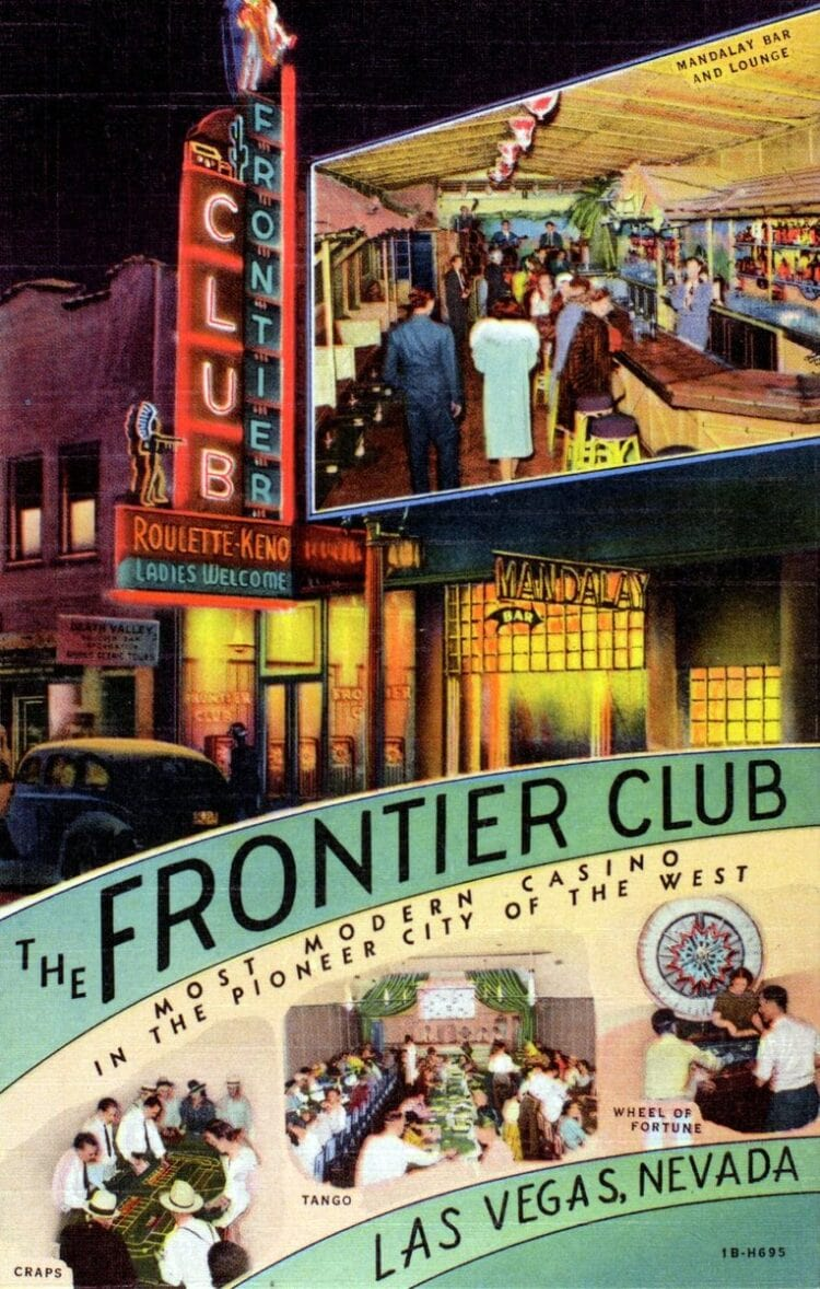 Vintage Las Vegas Pioneer Club 1941