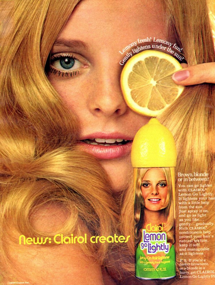 Vintage Lemon Go Lightly for blonde hair 1970s
