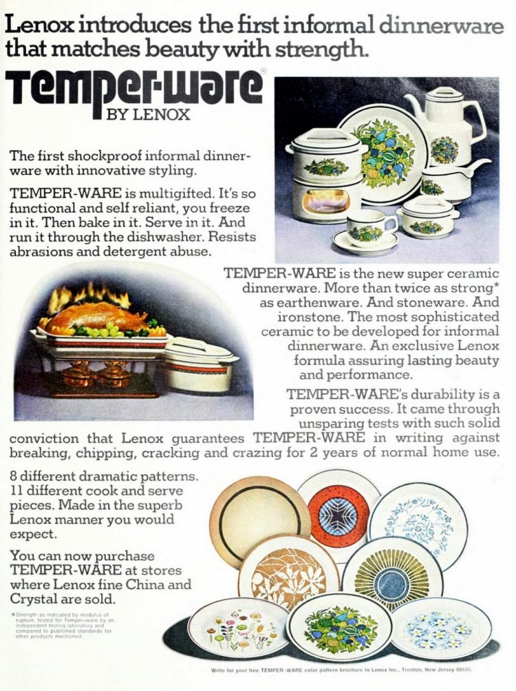 Vintage Lenox Temper-Ware patterns from the 1970s (1)