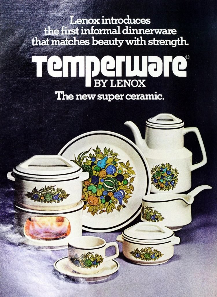 Vintage Lenox Temper-Ware patterns from the 1970s (2)