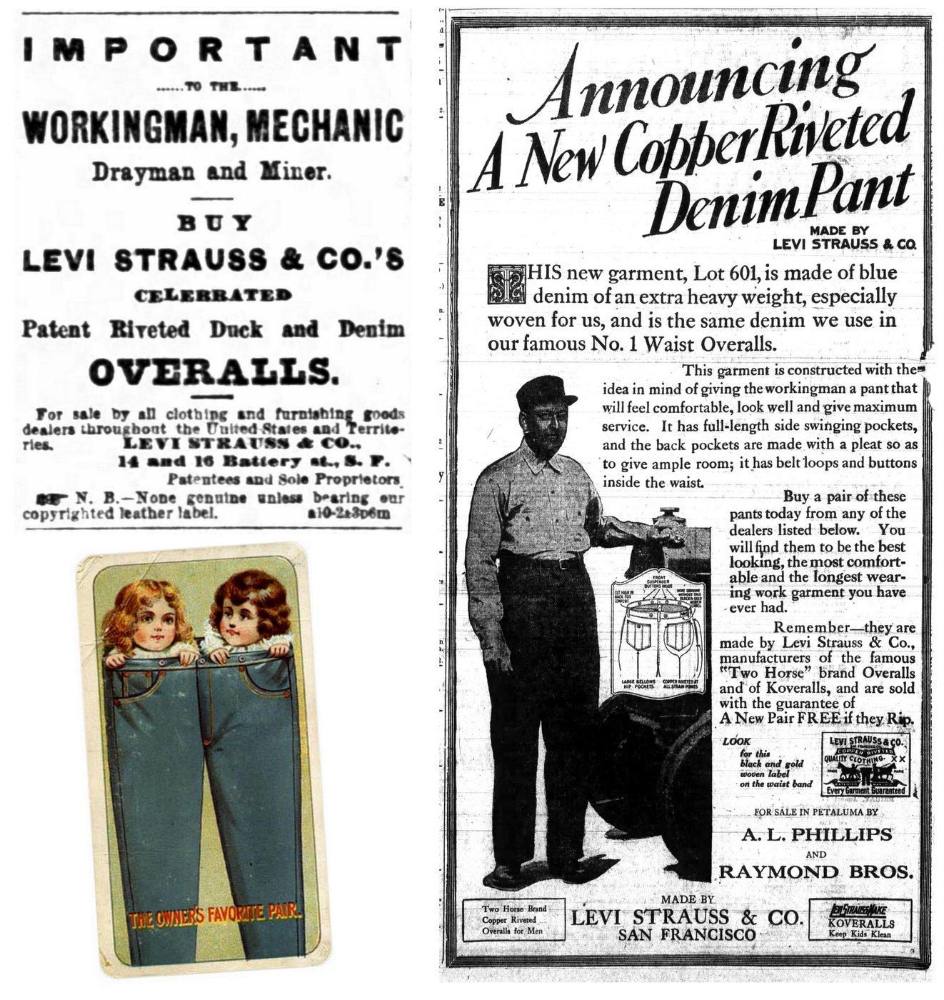Vintage Levi Strauss ads