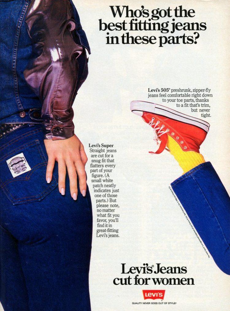 Vintage Levi's 505 jeans cut for women - 1985