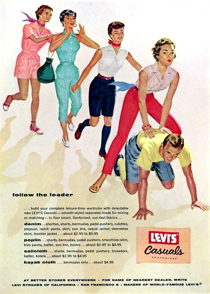 Vintage Levi's Casuals clothing from 1955