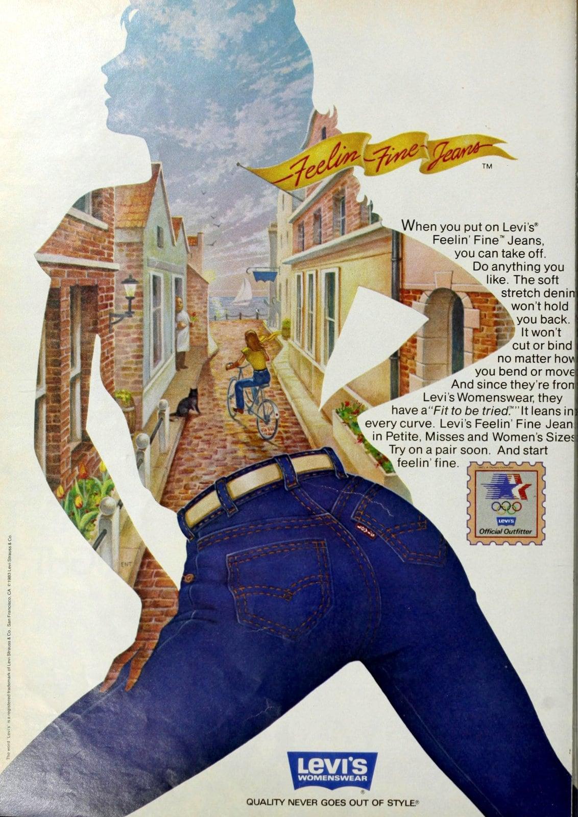 Vintage Levi's Feelin' Fine jeans (1983)