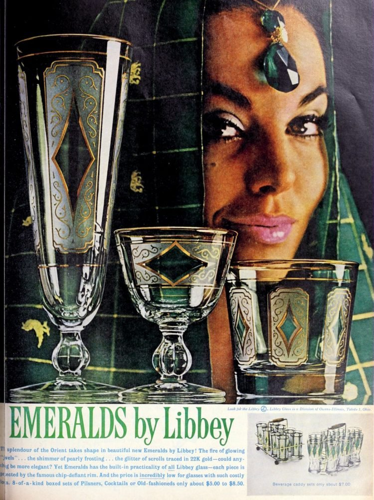 Vintage Libbey Emerald glasses from 1961