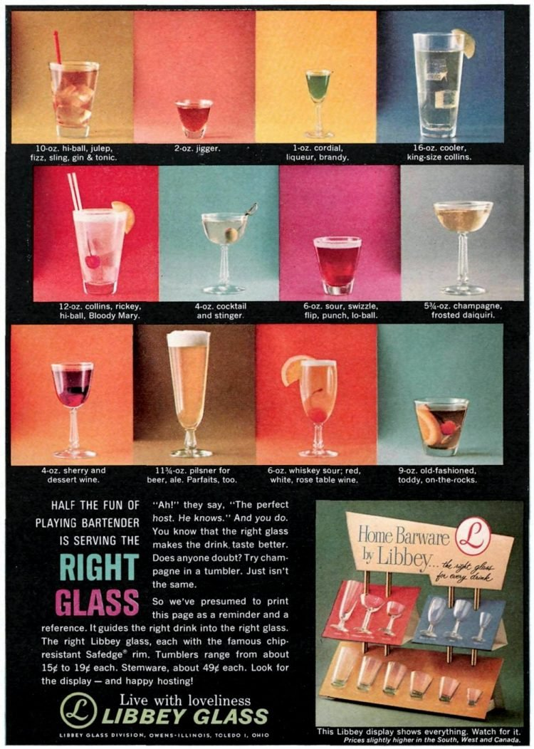 60 Vintage Libbey Drinking Glass Designs From The 60s Click Americana