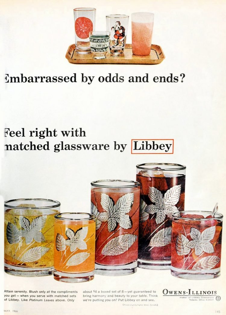 Vintage Libbey glasses from 1966