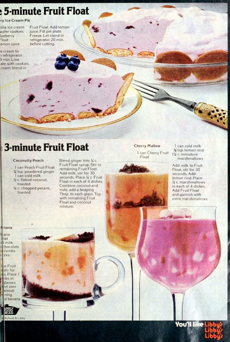 Vintage Libby's Fruit Float dessert mix - seventies (1)