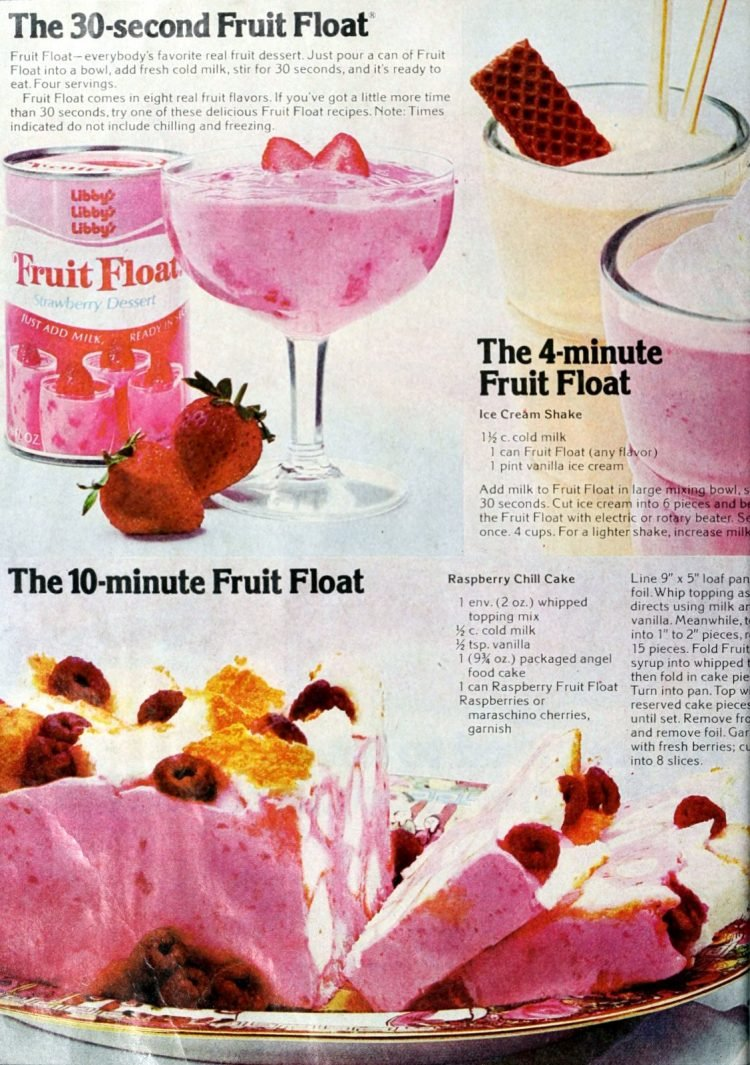 Vintage Libby's Fruit Float dessert mix - seventies (2)