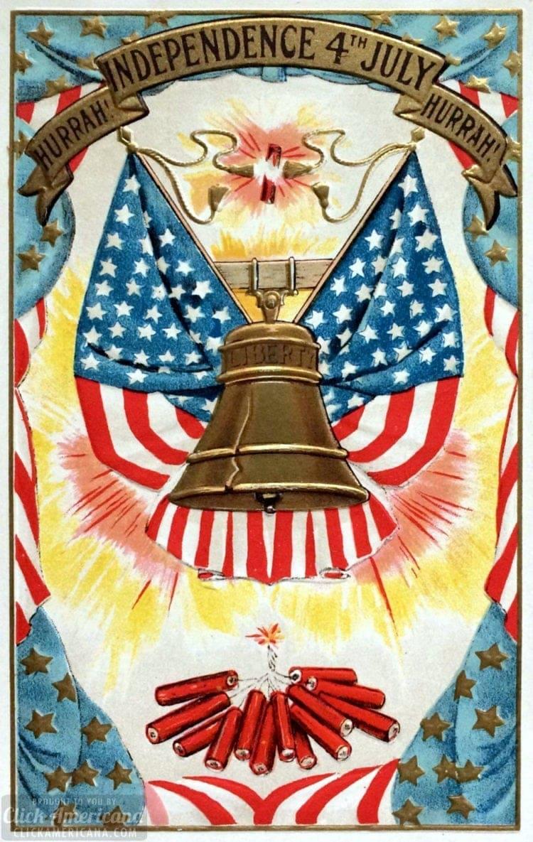 Vintage Liberty Bell postcard