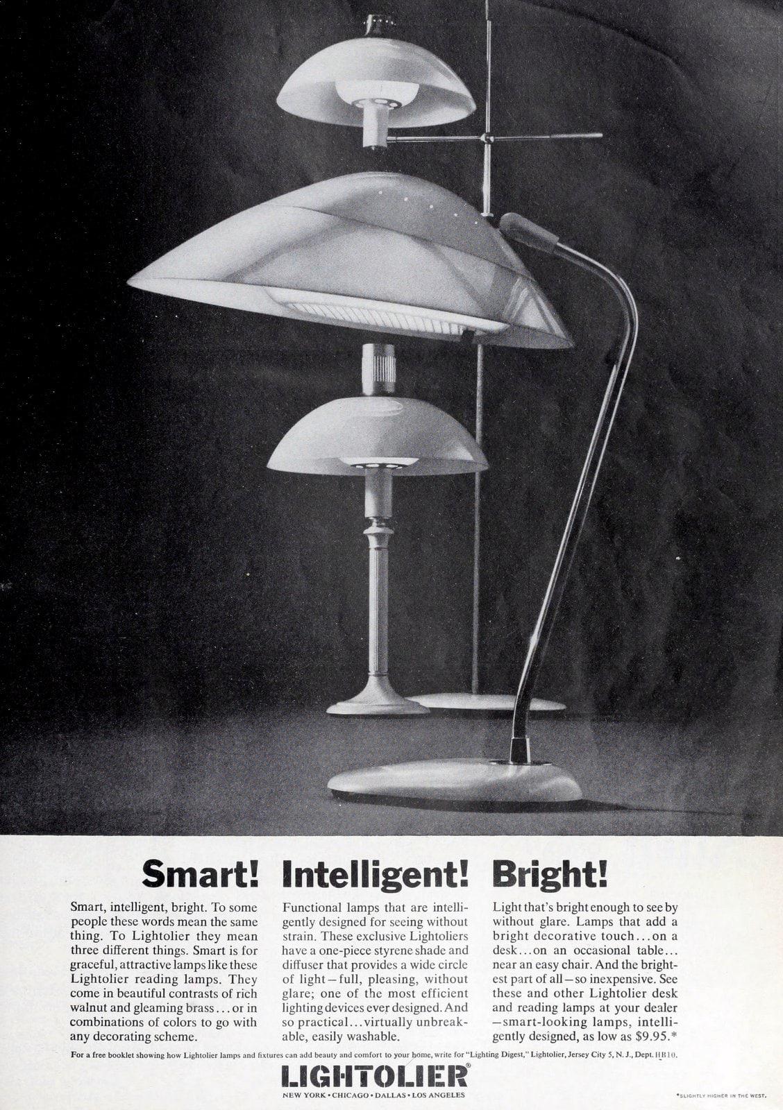 Vintage Lightolier desk lamps (1962)