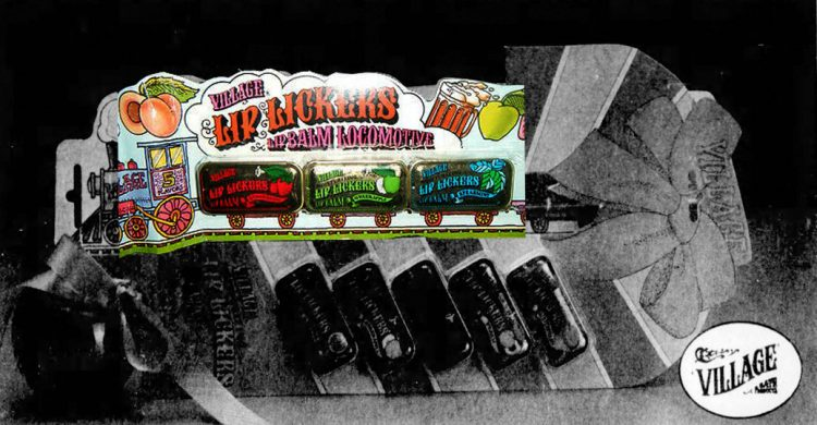 Vintage Lip Lickers railroad locomotive train packaging