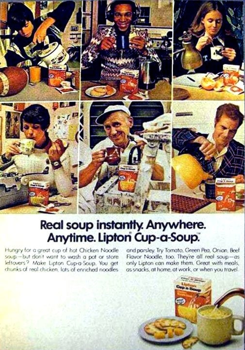 Vintage Lipton Cup-a-Soup ad