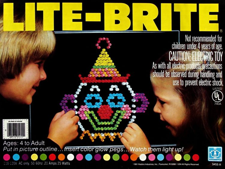 Vintage Lite Brite game box
