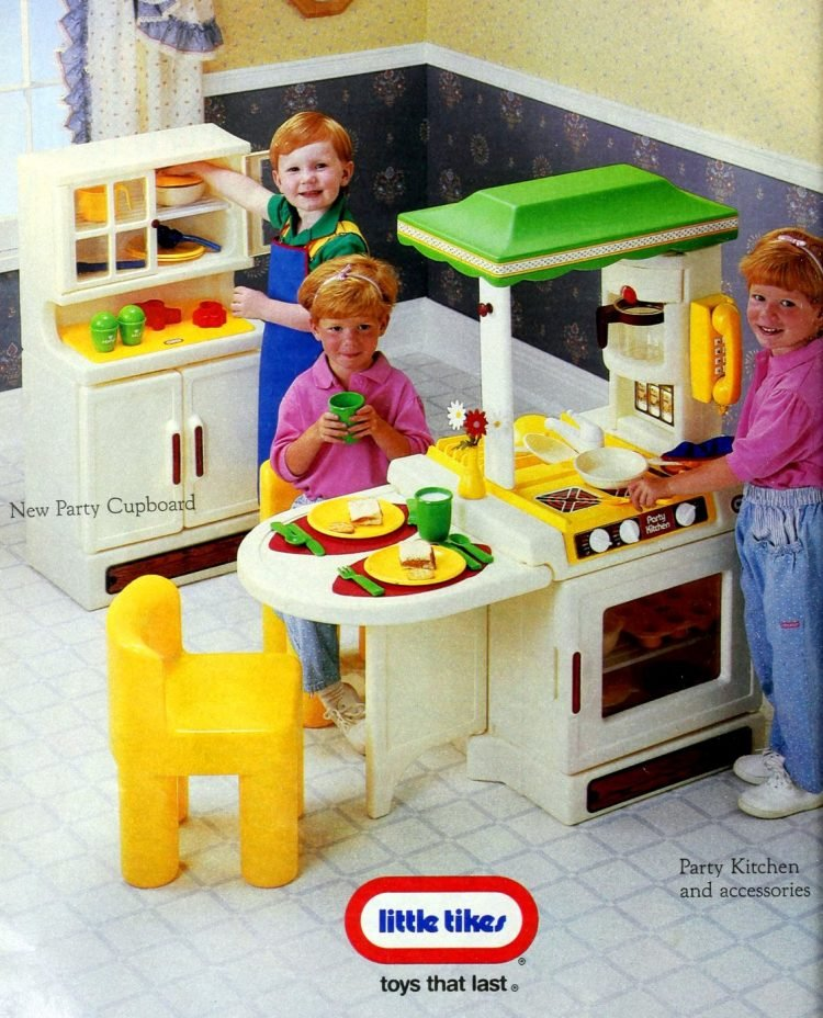 Vintage Little Tikes play kitchens from 1988