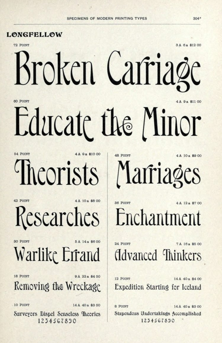 Vintage Longfellow typeface - Vintage font styles