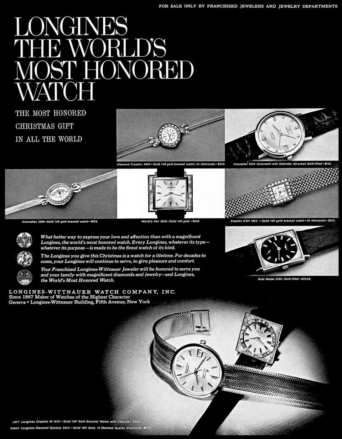 Vintage Longines-Wittnauer watches (1965)