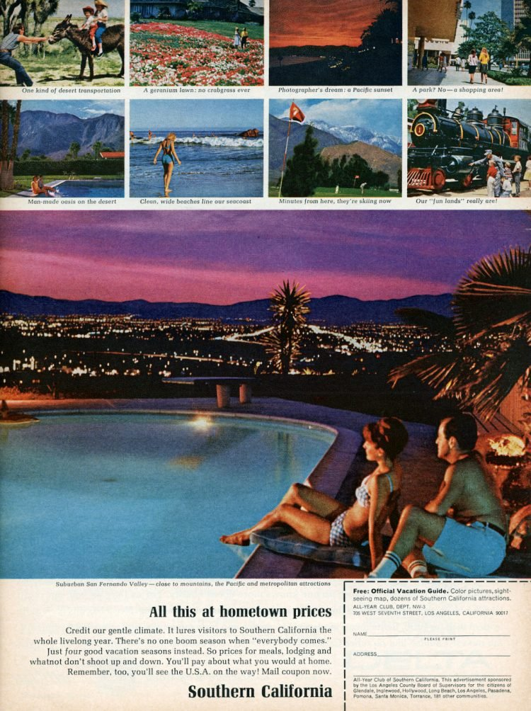 Vintage Los Angeles and Southern California vacations 1966