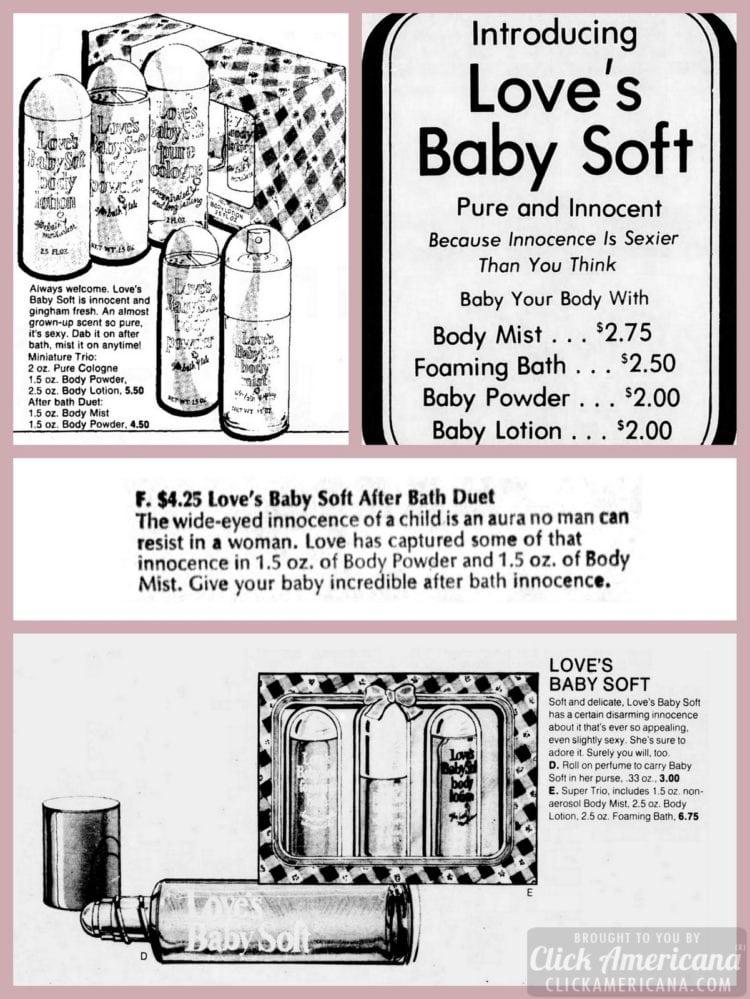 Retro Love's Baby Soft newspaper ads