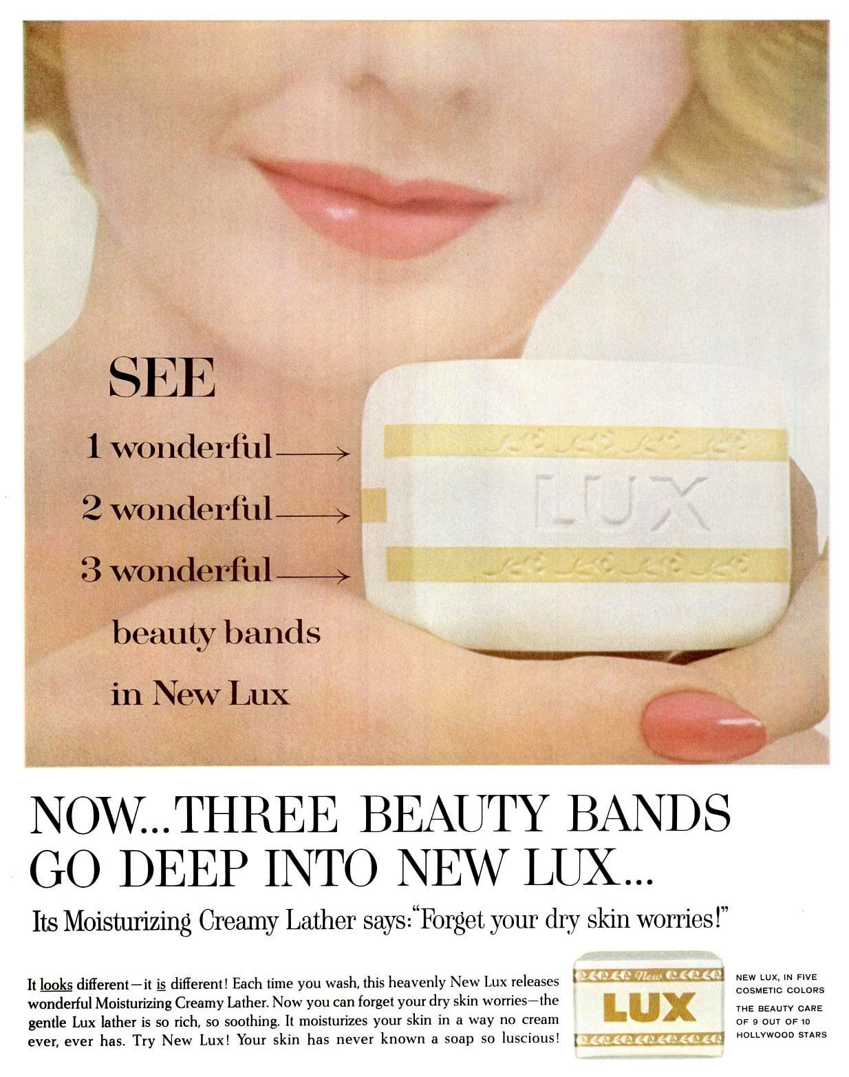Vintage Lux soap with beauty bands (1962)