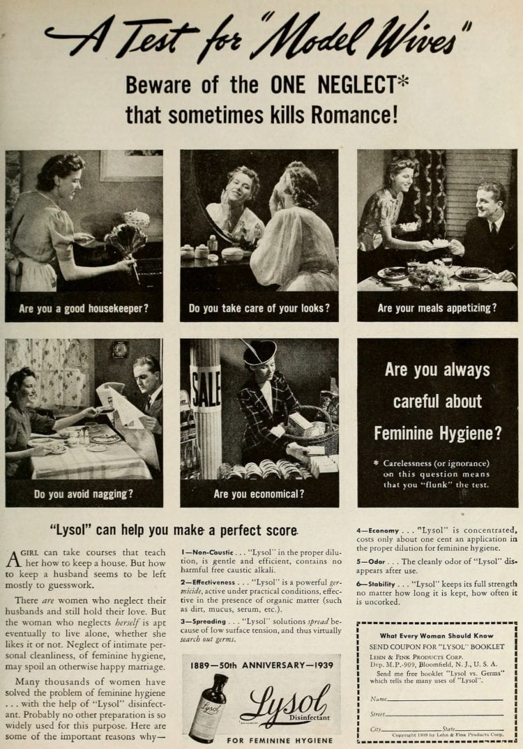 Vintage Lysol douche ads from the 1950s (1)