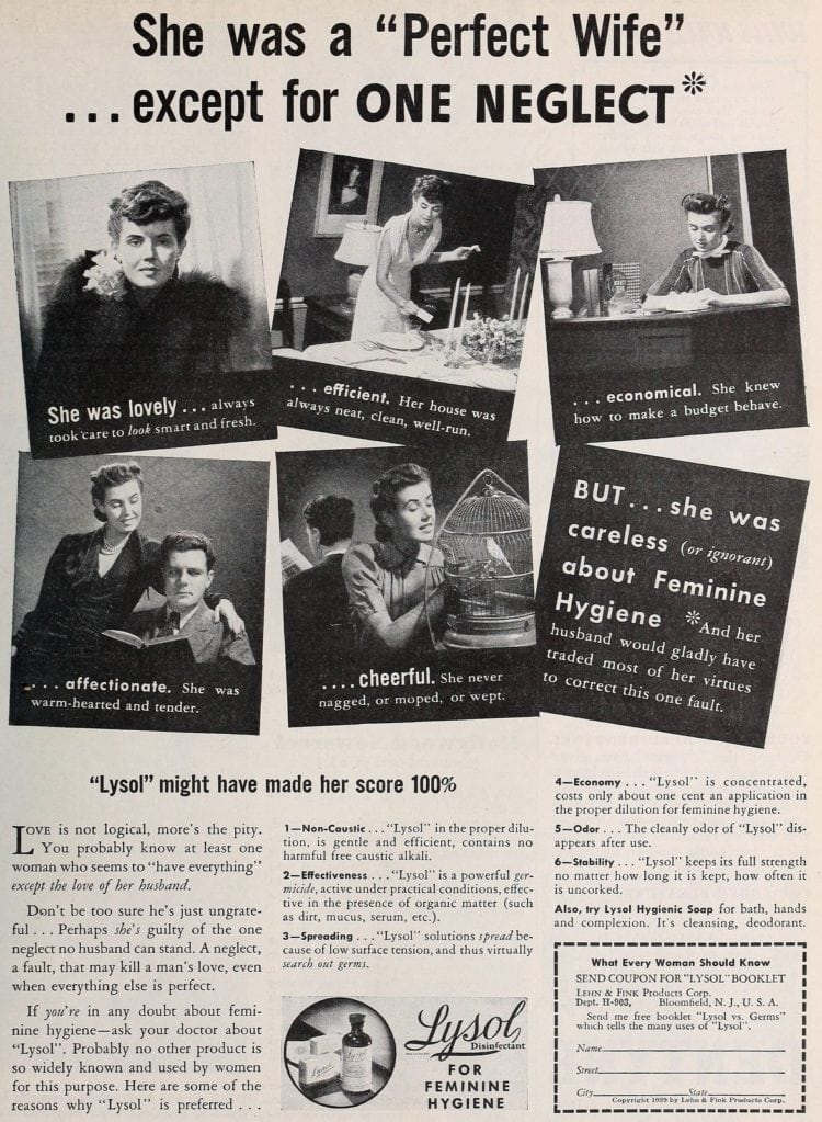 Vintage Lysol douche ads from the 1950s (2)